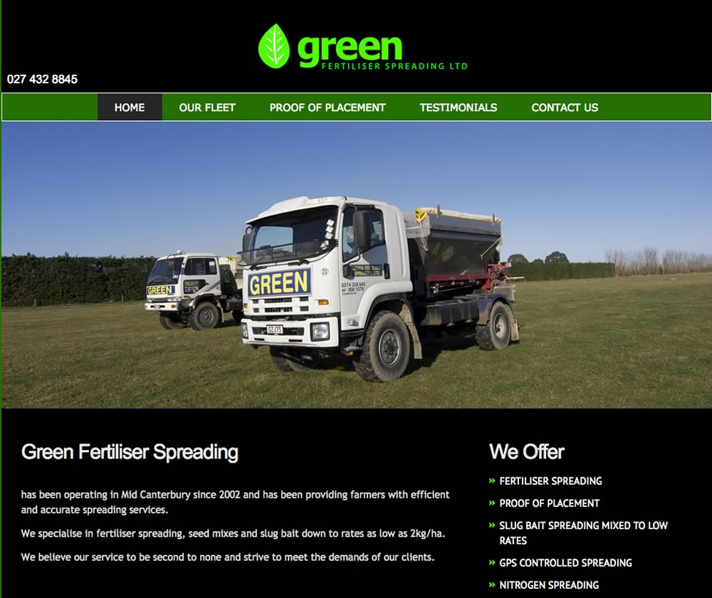 Green Fertiliser and Spreading